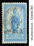 usa   circa 1950  a stamp... | Shutterstock . vector #52606780
