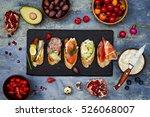 brushetta or authentic... | Shutterstock . vector #526068007