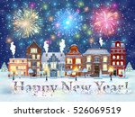 happy new year and merry... | Shutterstock .eps vector #526069519
