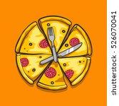 sketch style vector... | Shutterstock .eps vector #526070041