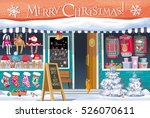 showcase gift shop with... | Shutterstock .eps vector #526070611