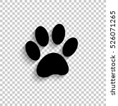 paw   black vector  icon with... | Shutterstock .eps vector #526071265