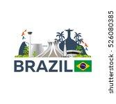 travel to brazil  skyline.... | Shutterstock .eps vector #526080385