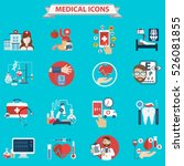 flat medical icons concept set... | Shutterstock .eps vector #526081855