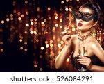 beauty glamour woman... | Shutterstock . vector #526084291
