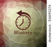 history icon. history website... | Shutterstock . vector #526092274