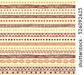 tribal ethnic ornament seamless ... | Shutterstock .eps vector #526092625