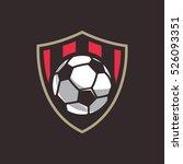 soccer logo  american logo... | Shutterstock .eps vector #526093351