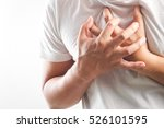 man having a heart attack | Shutterstock . vector #526101595