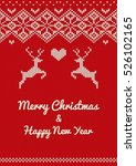 merry christmas   happy new... | Shutterstock .eps vector #526102165