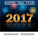 happy new year 2017 greeting... | Shutterstock .eps vector #526102264