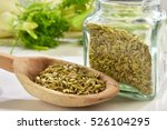 Fennel Seeds In Wooden Spoon...