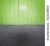 Green Grungy Urban Wall