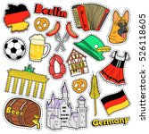 germany travel scrapbook... | Shutterstock .eps vector #526118605