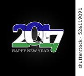 year 2017 with lesotho flag... | Shutterstock .eps vector #526119091