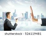 angry caucasian businessman... | Shutterstock . vector #526119481