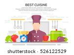 best cuisine concept... | Shutterstock .eps vector #526122529