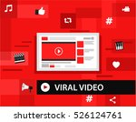viral video and most popular... | Shutterstock .eps vector #526124761