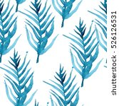 watercolor seamless pattern...   Shutterstock . vector #526126531