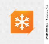 snowflake sign icon. air... | Shutterstock .eps vector #526132711