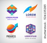vector set of abstract colorful ... | Shutterstock .eps vector #526135285