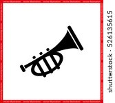 trumpet icon vector...   Shutterstock .eps vector #526135615