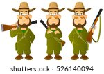 cartoon hunter. from a large... | Shutterstock .eps vector #526140094