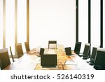 empty laptops on wooden... | Shutterstock . vector #526140319