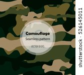 camouflage texture. seamless... | Shutterstock .eps vector #526145011