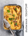 Moussaka. Traditional Greek...