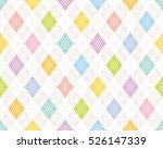 colorful argyle pattern. | Shutterstock .eps vector #526147339