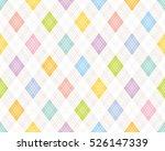 colorful argyle pattern. | Shutterstock .eps vector #526147339