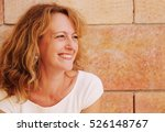 portrait of beautiful 40 years... | Shutterstock . vector #526148767