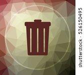 bin icon. bin website button on ... | Shutterstock . vector #526150495