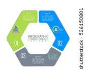 vector round infographic... | Shutterstock .eps vector #526150801