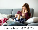 young mother  holding her... | Shutterstock . vector #526152295
