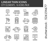 set of thin line flat icons.... | Shutterstock .eps vector #526154677