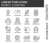 set of thin line flat icons.... | Shutterstock .eps vector #526154695