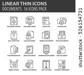 set of thin line flat icons.... | Shutterstock .eps vector #526154731