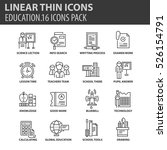 set of thin line flat icons.... | Shutterstock .eps vector #526154791