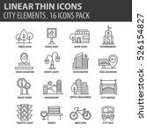 set of thin line flat icons.... | Shutterstock .eps vector #526154827