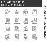 set of thin line flat icons.... | Shutterstock .eps vector #526154851