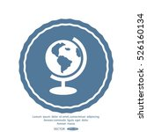 globe icon vector illustration.   Shutterstock .eps vector #526160134
