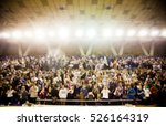 blurred background of crowd of... | Shutterstock . vector #526164319