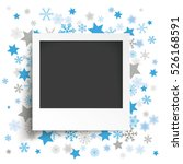 instant photo with blue... | Shutterstock .eps vector #526168591