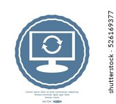 monitor with icon of cyclic...   Shutterstock .eps vector #526169377