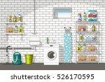 illustration of interior... | Shutterstock .eps vector #526170595