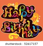 happy birthday banner | Shutterstock .eps vector #52617157