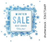 sale square banner with blue... | Shutterstock .eps vector #526171669