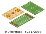 isometric american football and ... | Shutterstock .eps vector #526172089